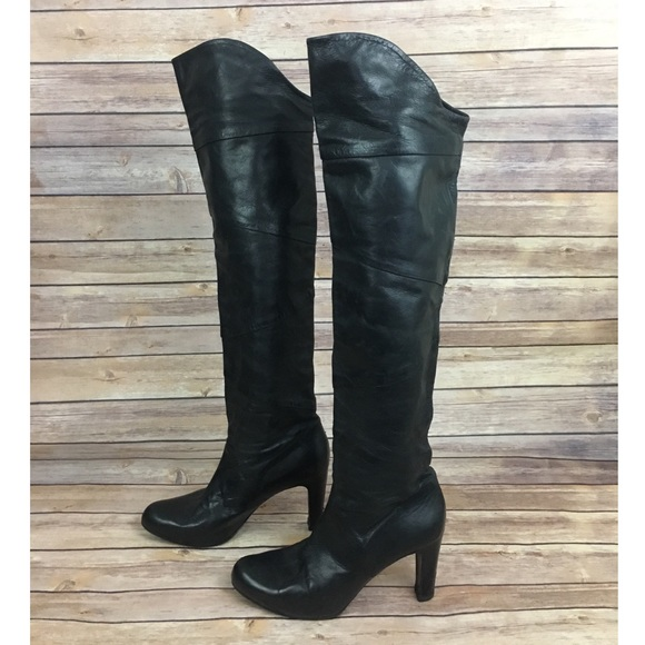 87f9c1d8622 Roberto Del Carlo Over The Knee Boots In Black
